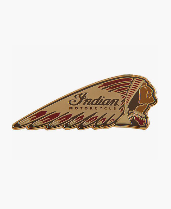 Indian Colored Warbonnet Pin Badge