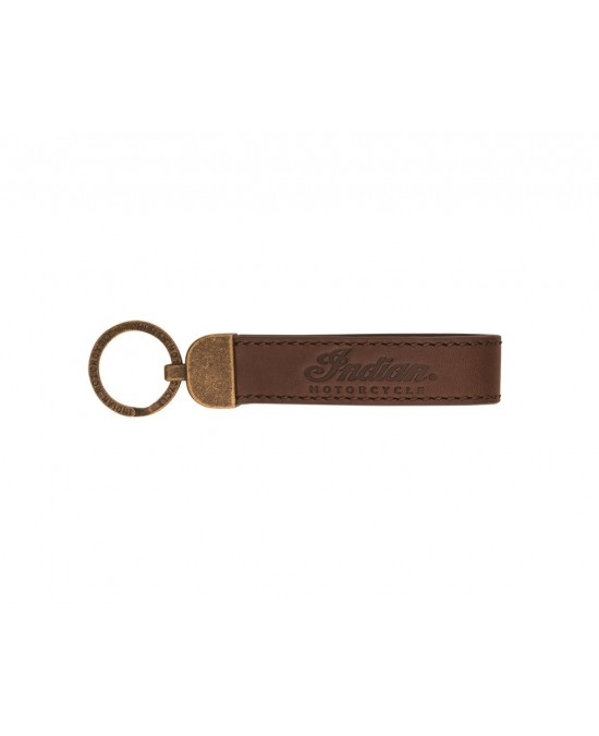 Indian Leather Keyring-Script/брелок