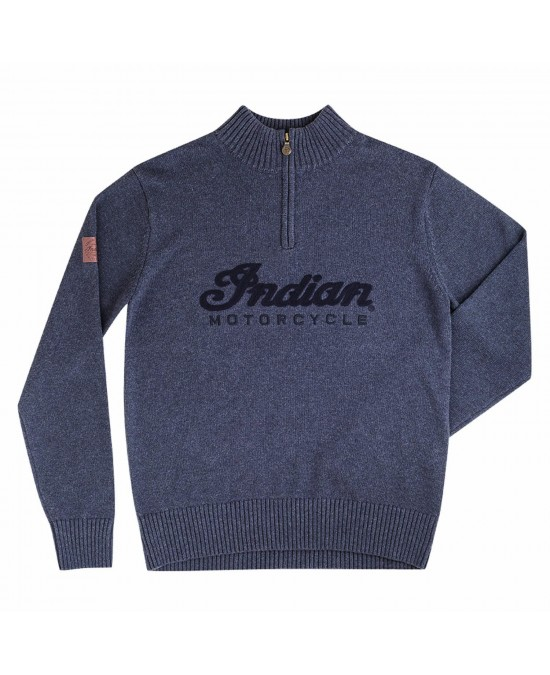 Indian Logo Qtr Zip Knit/свитер