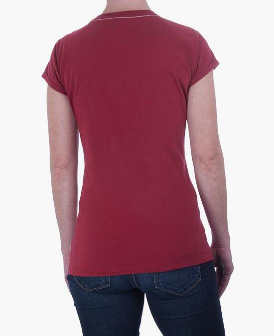 Indian Ladies Red Logo Crew T-shirt/футболка
