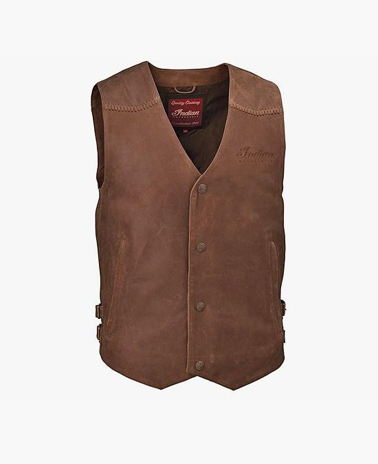 Indian Brown Leather Vest/жилет