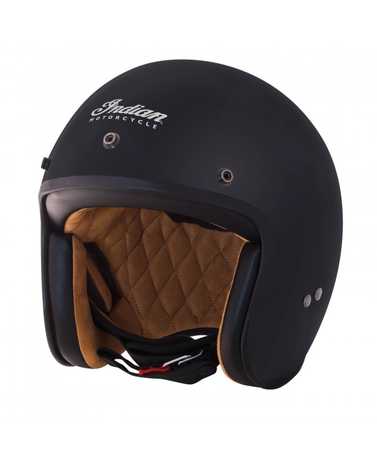 Indian Retro Open Face MT Black Helmet