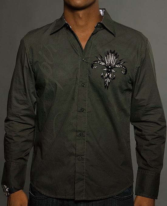 Rebel Spirit Men Long Sleeve Shirt/рубашка мужская
