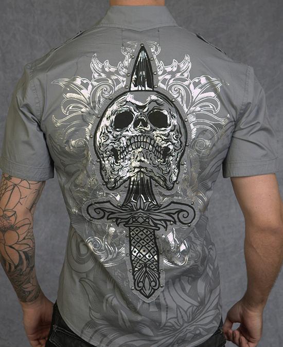 Rebel Spirit Men Short Sleeve Shirt/рубашка мужская