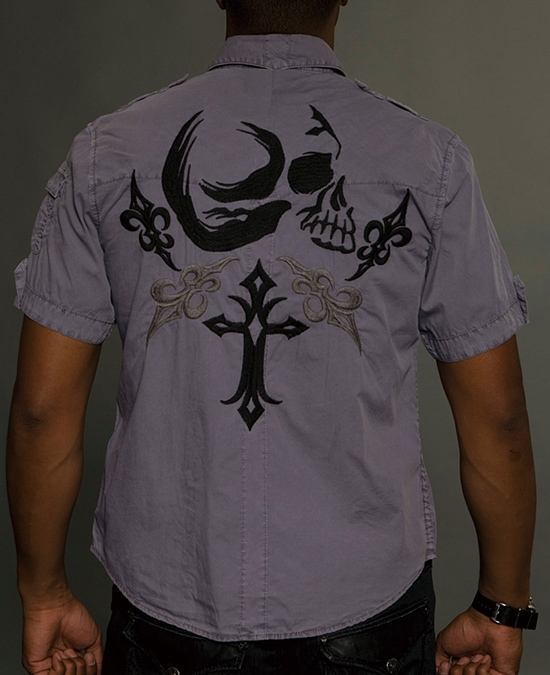 Rebel Spirit Men Short Sleeve Shirt