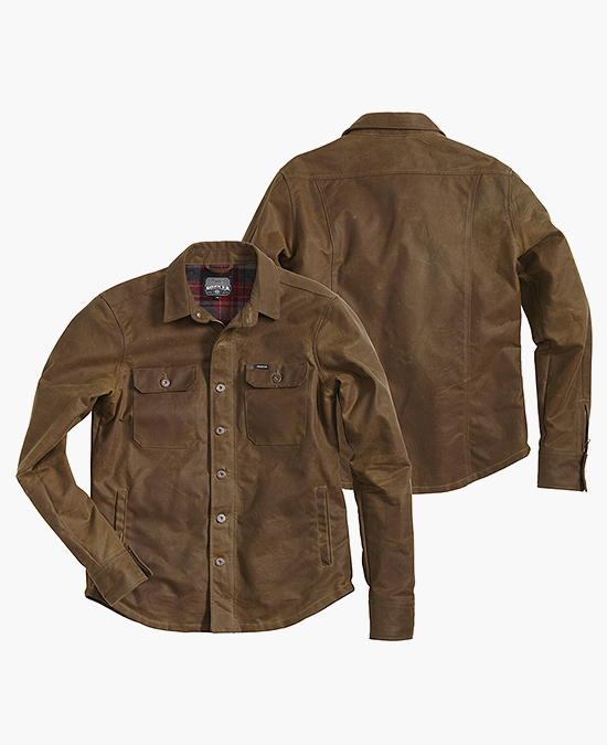 ROKKER Wax Cotton Overshirt Men