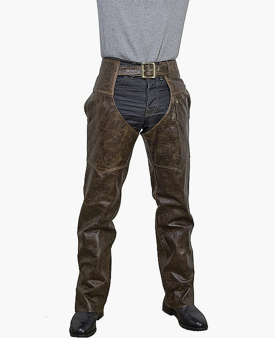 Schott Cowhide Leather Motorcycle Chaps