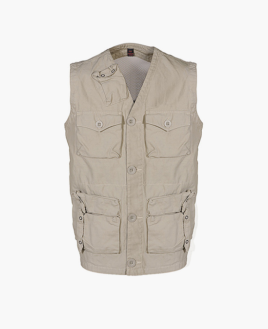 Schott Cotton Twill Survival Vest