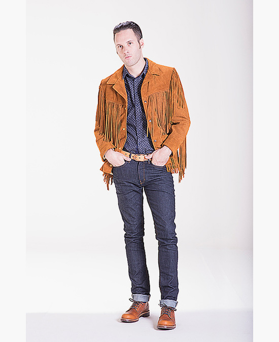 Schott Western Fringe Leather Jacket