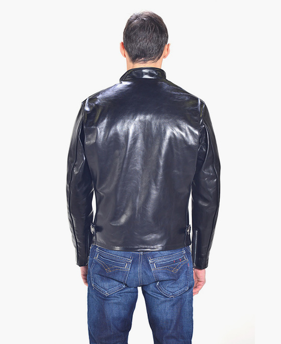 Schott Classic Horsehide Racer Leather Motorcycle Jacket