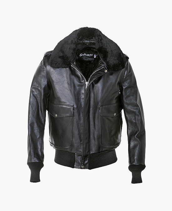 Schott  A-2 Naked Cowhide Leather Flight Jacket