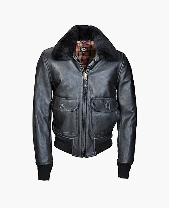 Schott G-1 Goatskin Leather Bomber Flight Jacket