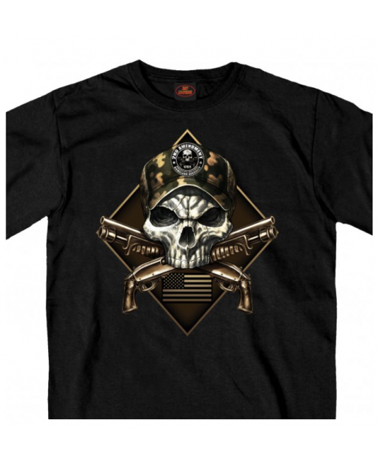 Hot Leathers Camo Skull T-shirt