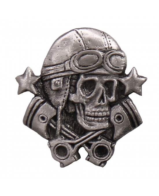 Hot Leathers Pin Aviator Skull/значок PNA1300
