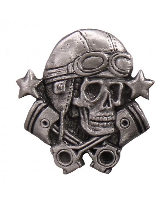 Hot Leathers Pin Aviator Skull