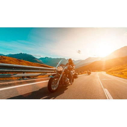 A motorcycle cruiser is the best option for traveling