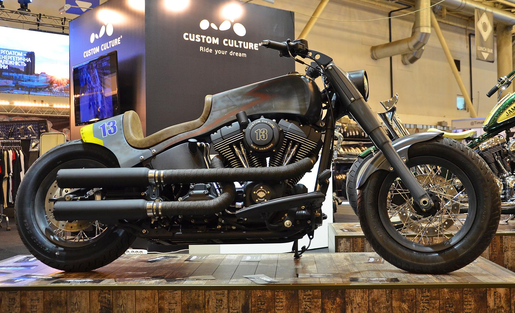 Кастом проект THUNDERBOLT на базе серийного мотоцикла HD